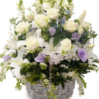 백합백장미꽃바구니