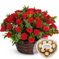 꽃바구니5 +쵸코렛포함 발렌타인데이