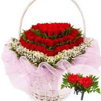 꽃바구니+코사지2개(꽃행복333호)