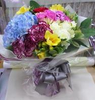블루색수국장미혼합꽃다발
