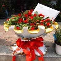 라운드형 장미꽃다발