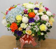 수국장미혼합꽃바구니 특별상품