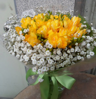 후리지아꽃다발