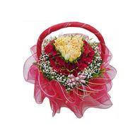 하트장미혼합꽃바구니g