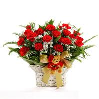 장미안개꽃바구니A